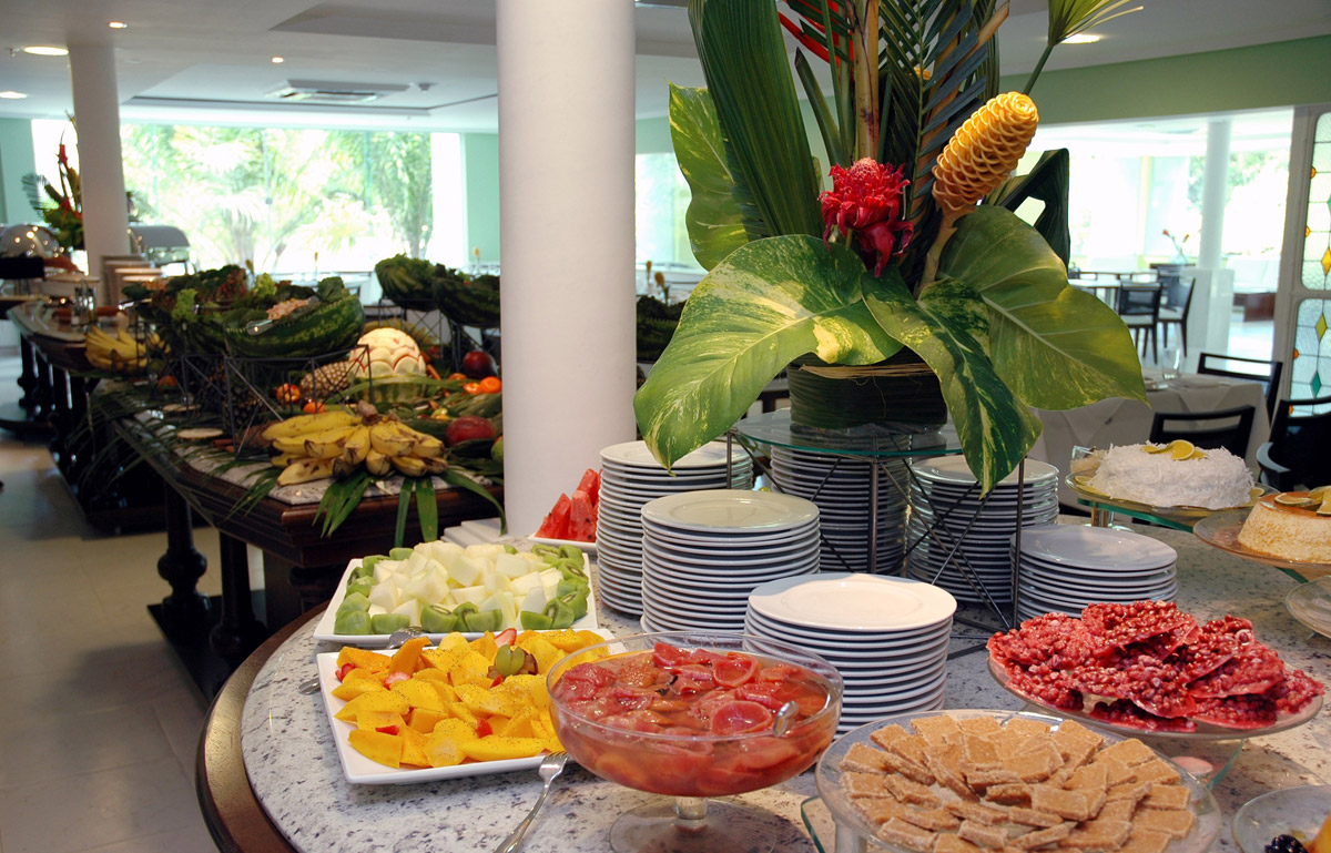 Obst-Buffet vom Bahia Plaza Hotel