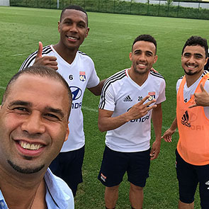Marcelo, Marçal und Mouctar Diakhaby von Olympique Lyon